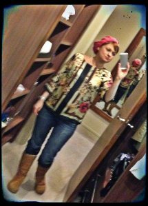 Jeans, River Island Boots, Ugg Top, Phase Eight Hat, H&M Necklace, Vivienne Westwood