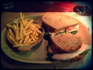 grilled chicken sandwich in the one eleven bar