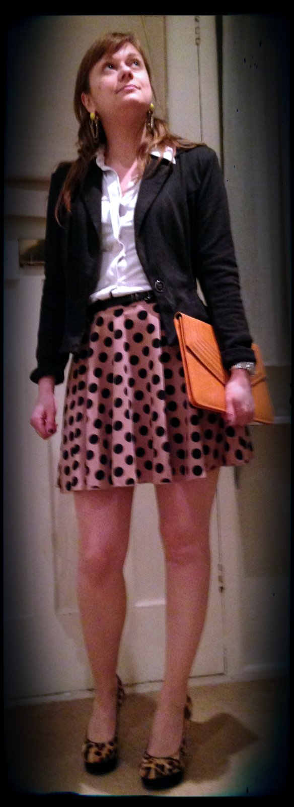 Skirt: Rare at ASOS Blazer: Jane Norman Blouse: Mango Bag: Vintage Shoes: Jessica Simpson for Kurt Geiger