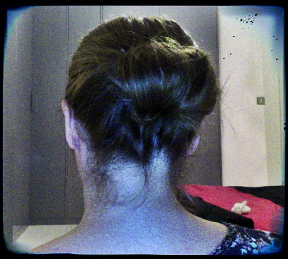 cheat's chignon (sort of)